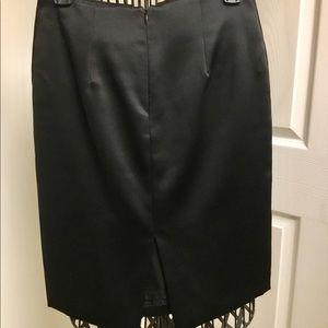 ABS Allen Schwartz Skirts - A.B.S Allen Schwartz black satin skirt size 4